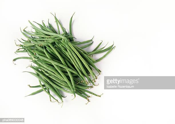 Pile of green string beans.