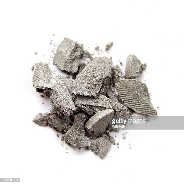 Pile of grey eye shadow