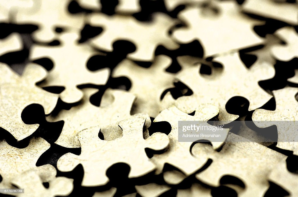 Pile Of Jigsaw Puzzle Pieces Stock Photo