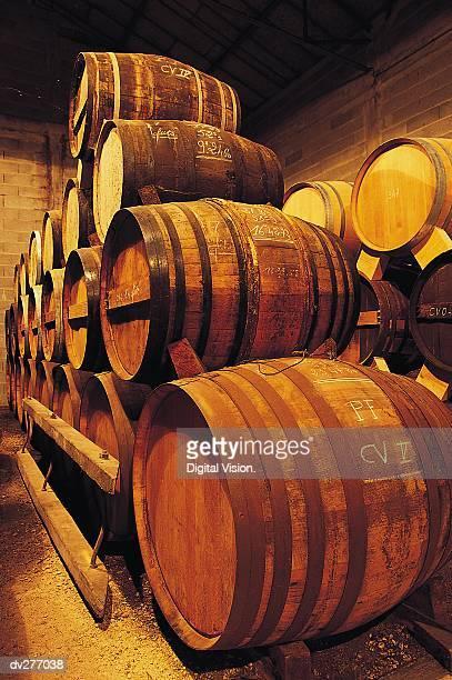 Pile of kegs