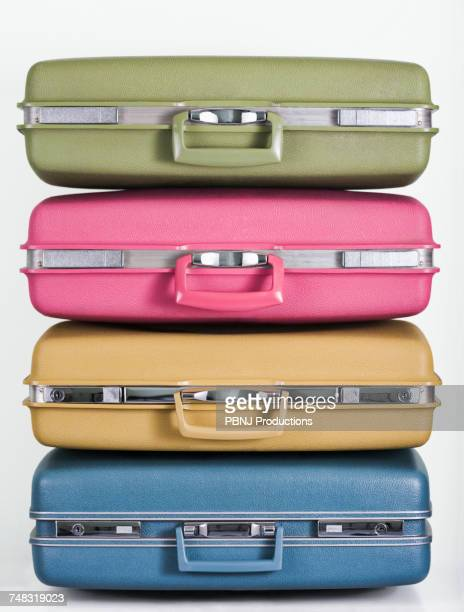 Pile of multicolor suitcases