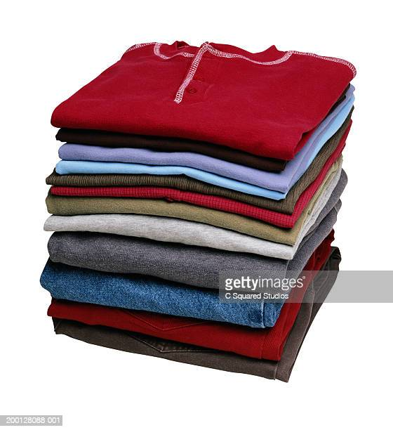 Pile of neatly folded clothing