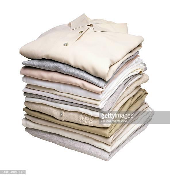 Pile of neatly folded clothing