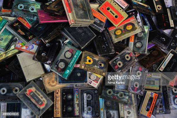 Pile of old Cassette Tapes