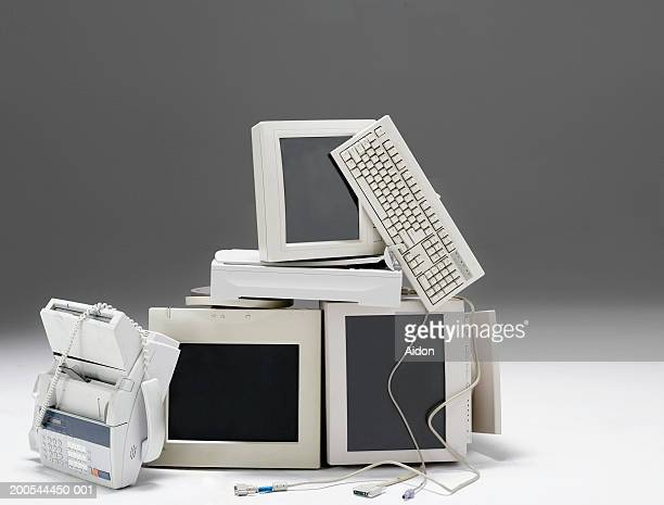 pile of old technology, still-life - it is finished stock pictures, royalty-free photos & images
