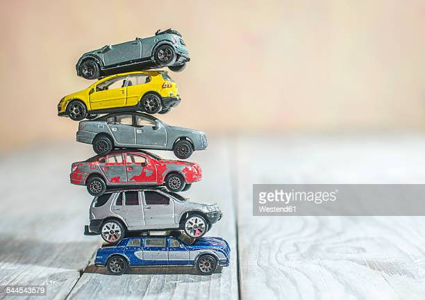 Pile of old toys cars