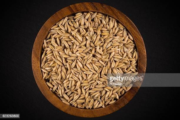 pile of organic oat grains