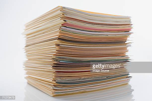 pile of paperwork in files - file stock pictures, royalty-free photos & images
