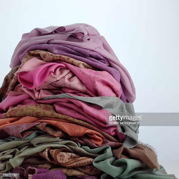 Pile of pashminas