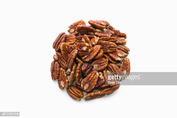 Pile of pecans in shape of a circle