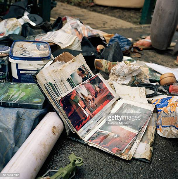 A pile of personal possessions belonging to Alison Wearing lie outside her house in Toll Bar village Almost all her furniture and possessions which...