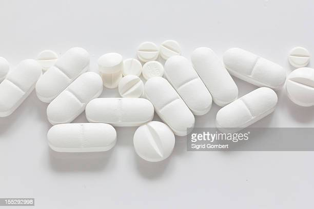Pile of pills on counter