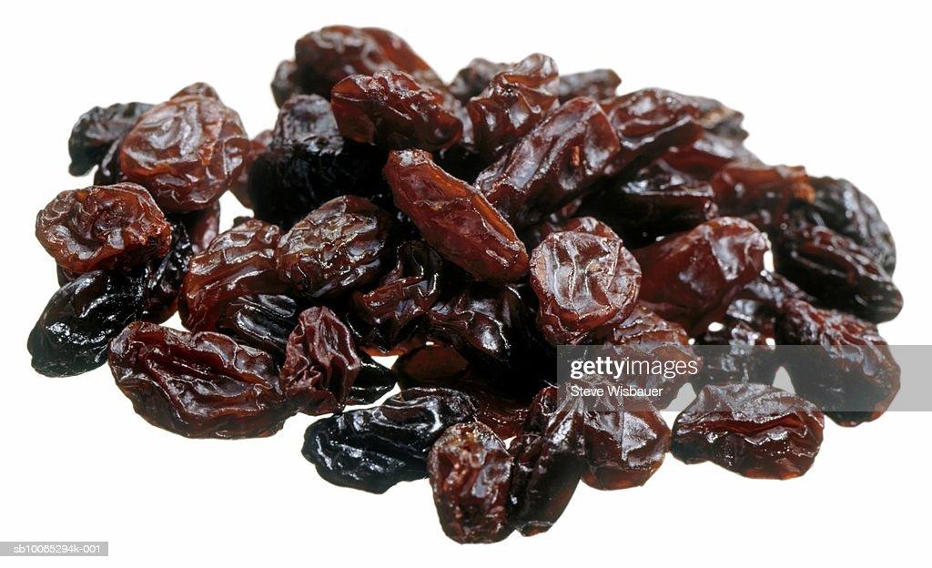 Pile of raisins, studio shot, close-up : Foto stock