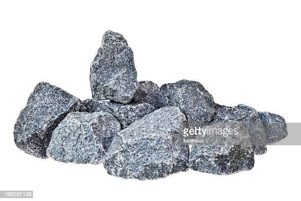 Pile of rocks isolated on white