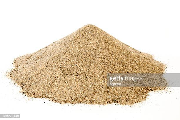 pile of sand - sand stock pictures, royalty-free photos & images