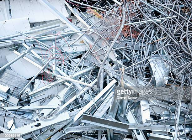 pile of scrap metal - obsolete stock pictures, royalty-free photos & images
