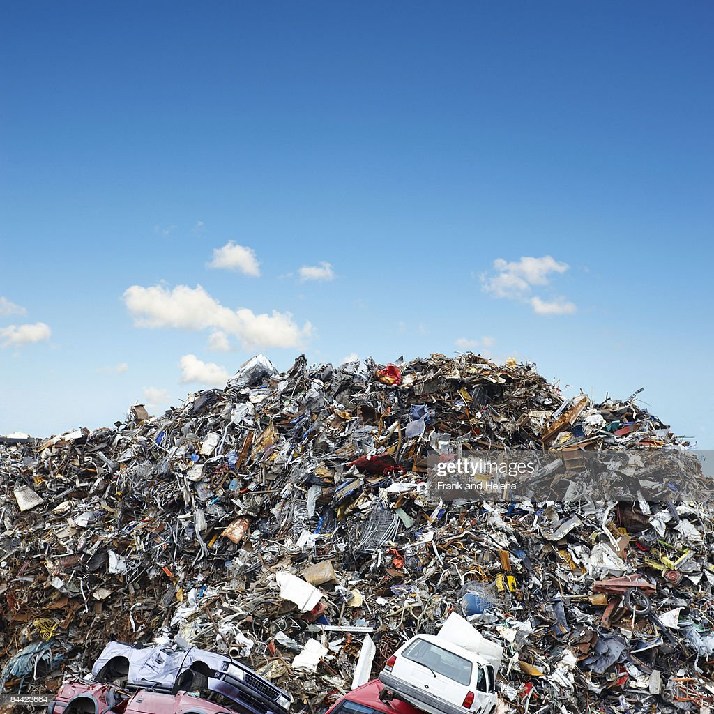A pile of scrap metal : Stock Photo