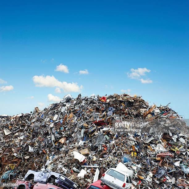 a pile of scrap metal - junkyard stock photos and pictures