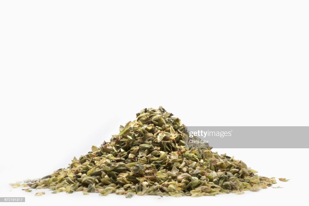 Pile of seasoning flakes : Stock Photo