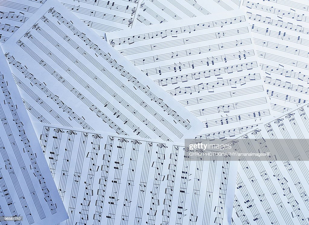 Pile Of Sheet Music Full Frame Stock Photo | Getty Images