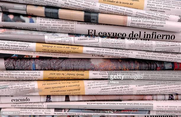 Pile de journaux espagnols