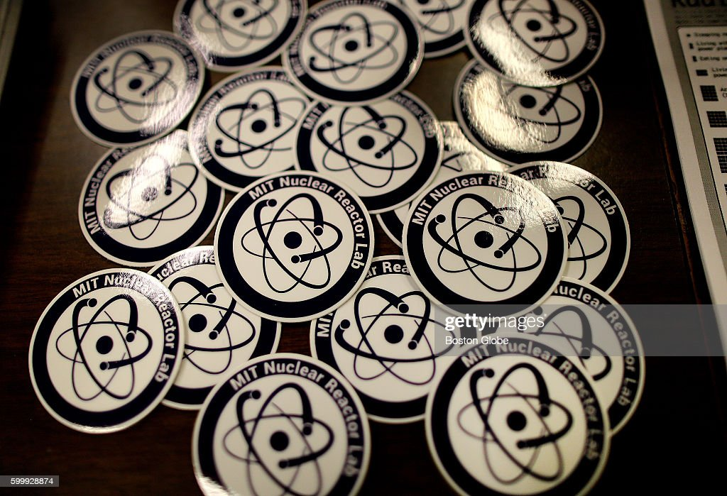 A Pile Of Stickers At The Security Desk At Mits Nuclear
