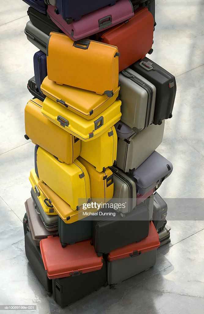 Pile of suitcases : Stockfoto