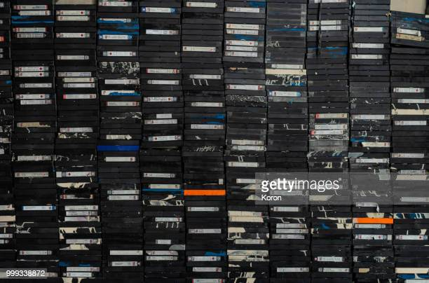 A pile of tapes