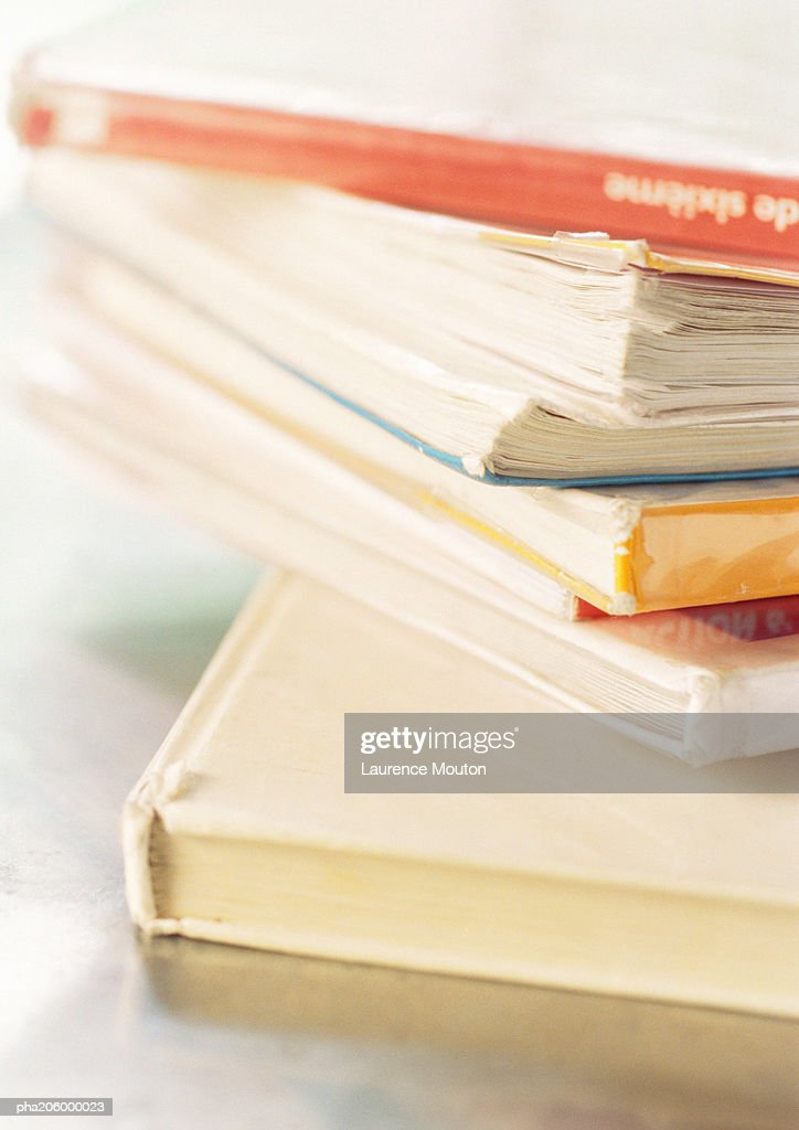 Pile of textbooks. : Stockfoto