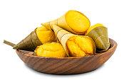 pile toddy palm cake kanom tarn