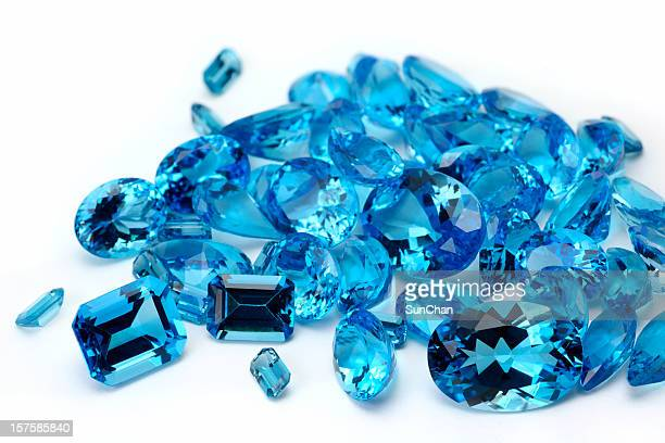 pile of topaz - topaz stock photos and pictures