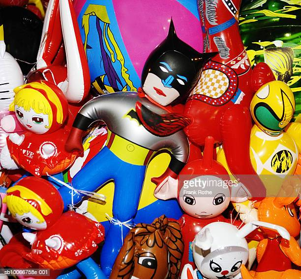 Pile of toy superheroes