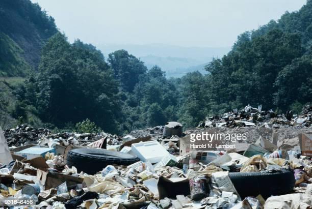 Pile of trash on landscape