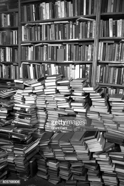 Pile of used books.
