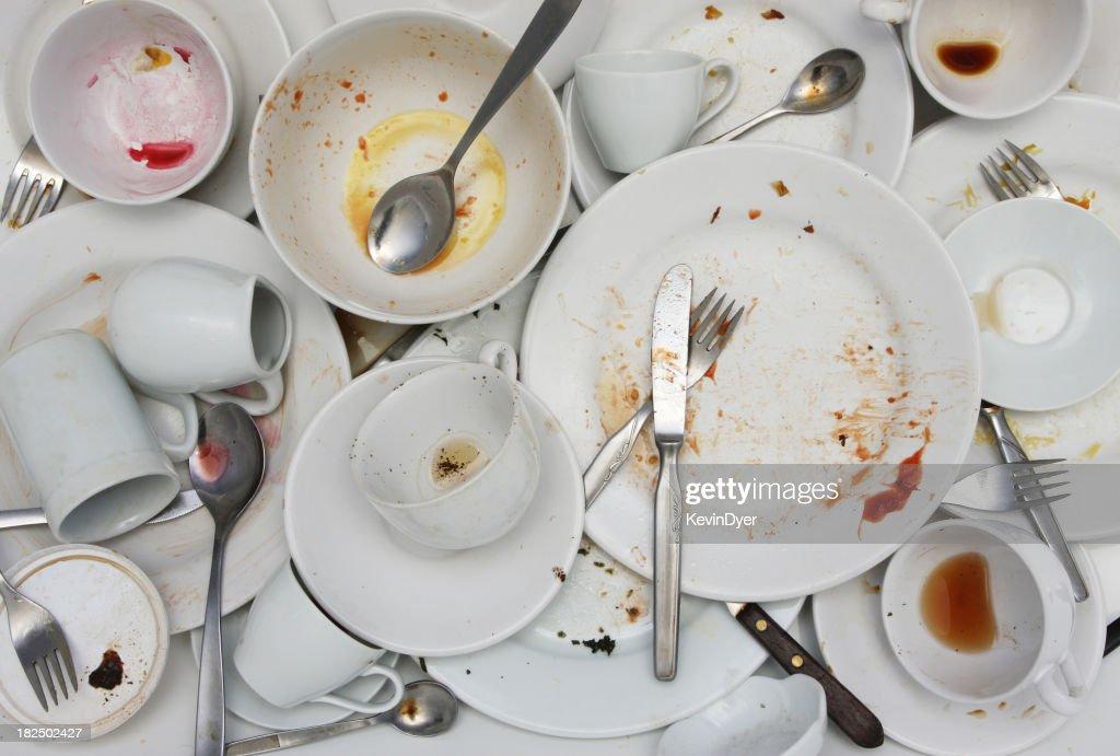 Pile of Washing-up : Stock Photo