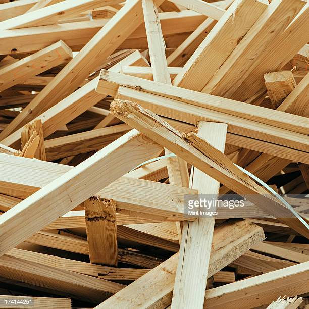 Pile of wood 2x4 studs used for construction, near Pullman