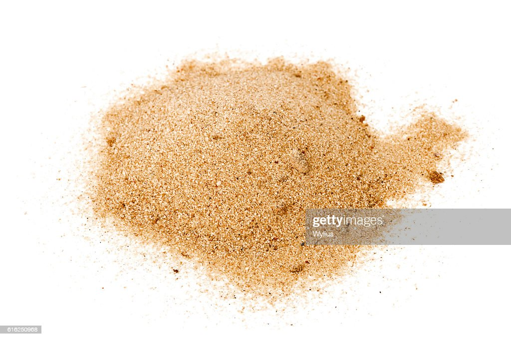Pile of yellow sand : Stock Photo
