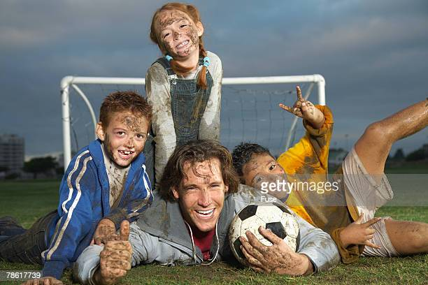 Pile up in a Soccer Game