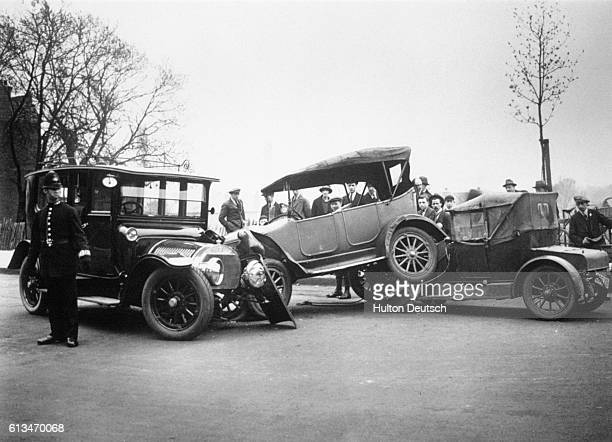 A pile up on London's Finchley Road 1924