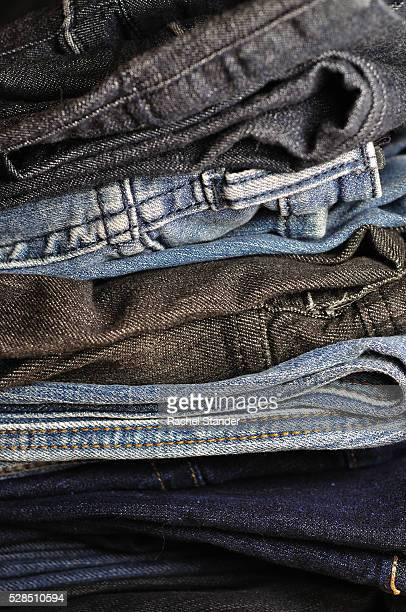 Piled Denim in Multiple Colors, Close-Up