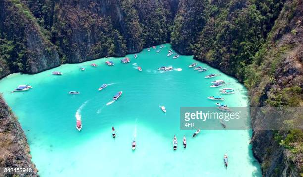 pileh lagoon, ko phi phi leh, thailand - phuket province stock pictures, royalty-free photos & images