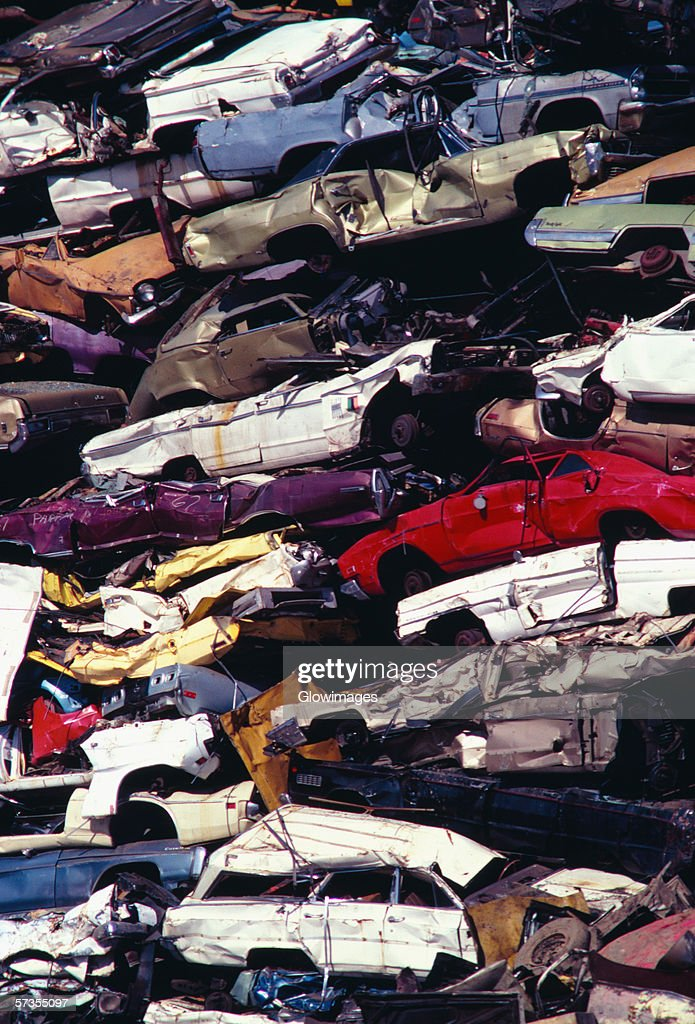 Piles Of Junk Cars Los Angeles California Stock Photo   Getty Images