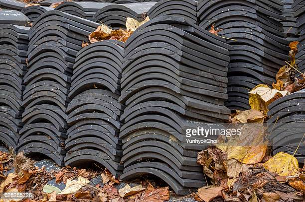 piles of Korean traditional roof tiles