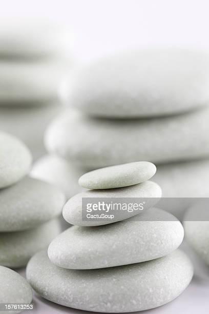 Piles of white stones