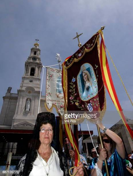 Pilgrim during the procession of Fatima in central Portugal Thousands of pilgrims converged on Fatima Santuary to celebrate the anniversary of the...