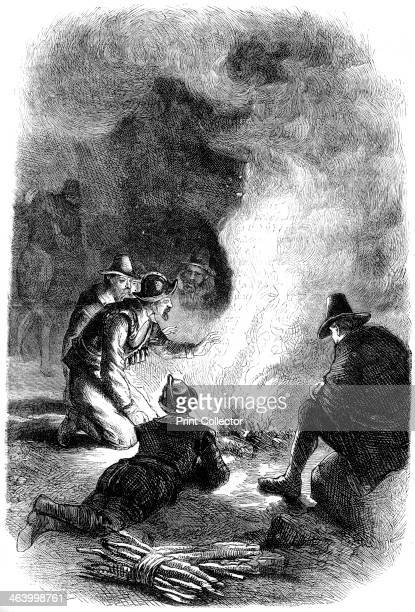 Pilgrim Fathers around a watchfire c1620 Fleeing religious persecution in England the Pilgrim Fathers established the second successful colony in...