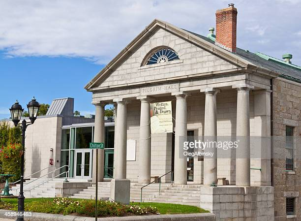 pilgrim hall museum - plymouth massachusetts stock photos and pictures