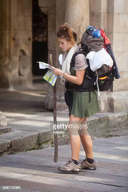 Pilgrim in Santiago de Compostela
