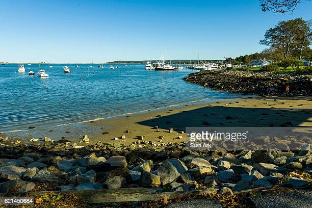 pilgrim memorial state park, plymouth, massachusetts. - plymouth massachusetts stock photos and pictures