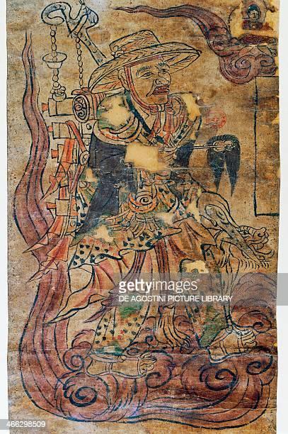 Pilgrim monk miniature Dunhuang Chinese civilization 9th century